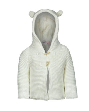 Chunky Knit Animal Eared Hooded Cardigan