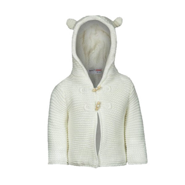 Chunky Knit Animal Eared Hooded Cardigan 1