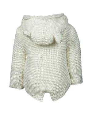 Chunky Knit Animal Eared Hooded Cardigan