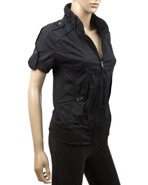 Ladies Short Sleeve Black Jacket
