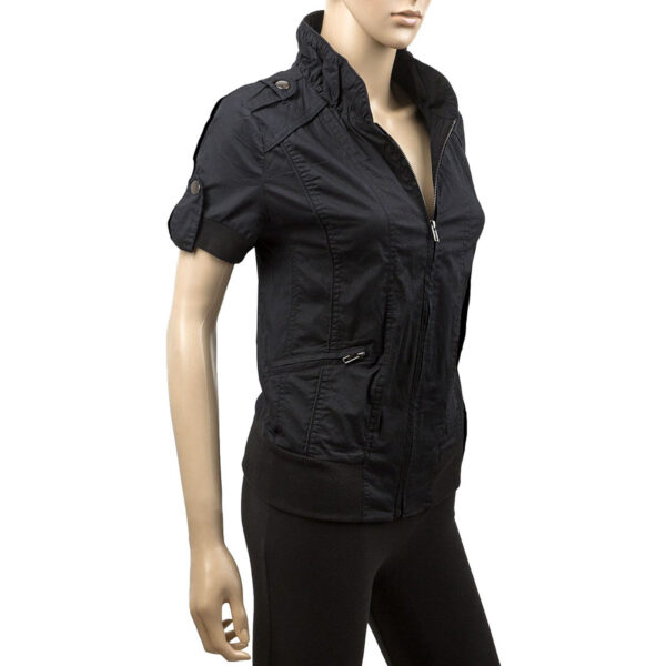 Ladies Short Sleeve Black Jacket 2