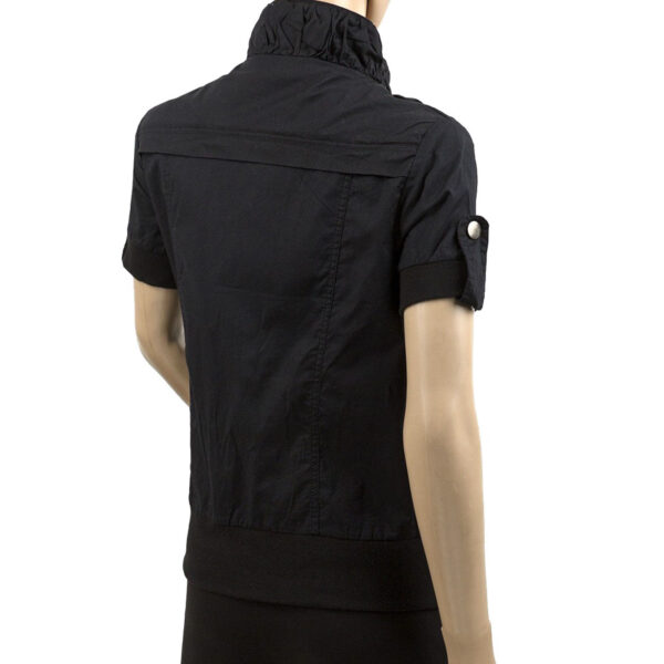 Ladies Short Sleeve Black Jacket 3